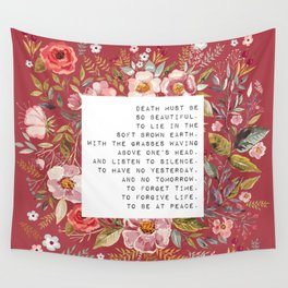 Death must be so beautiful - S. Plath Collection Wall Tapestry