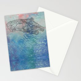 Millennium Falcon Sunset Sky Stationery Cards
