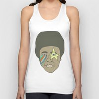 the dude Tank Tops featuring dude by Chad spann