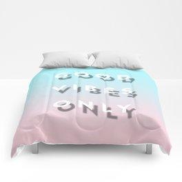 Good Vibes Only - Shadow Gradient - Vaporwave Comforters