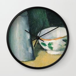 1877 - Paul Cezanne - Bowl and Milk-Jug Wall Clock