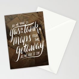 maps for the getaway Stationery Cards