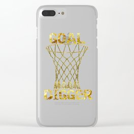 Goal digger Clear iPhone Case