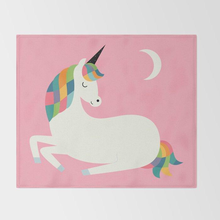 Unicorn Happiness Throw Blanket