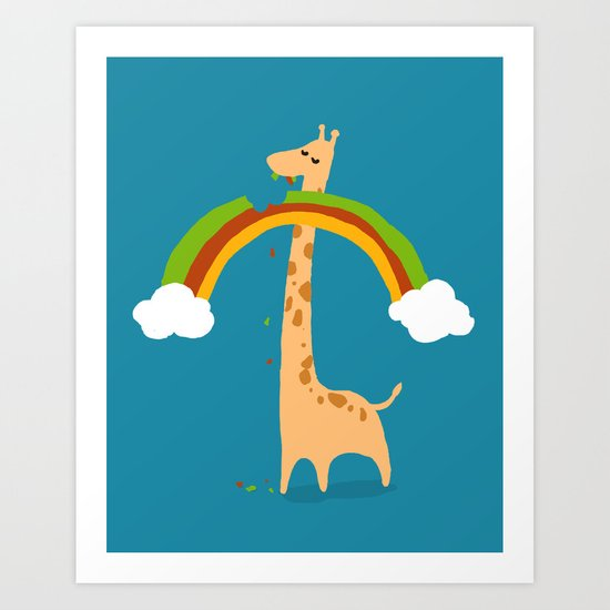 Taste of Happiness Rainbow Art Print