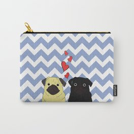 Chevron Pug Carry-All Pouch