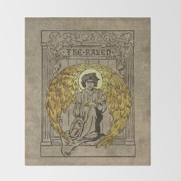 The Raven. 1884 edition cover Throw Blanket