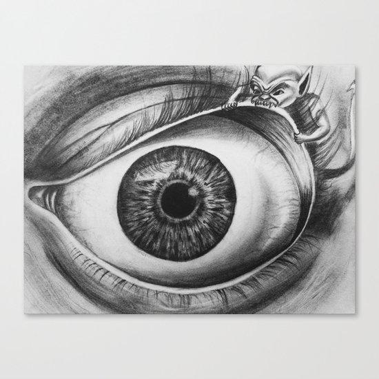 INTERNAL BATTLE Canvas Print
