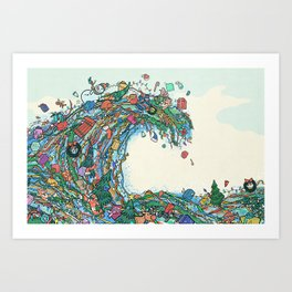 Christmas Tidal Wave Art Print