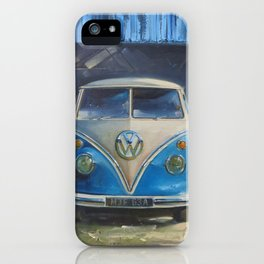 V W Camper van, waiting for another adventure iPhone Case