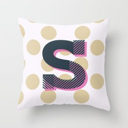 S is for Sweet Throw Pillow