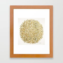 Golden Burst Framed Art Print