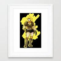 rwby Framed Art Prints featuring RWBY Yang by IslandMyths
