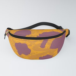 Bold Orange Cheetah Pop - Abstract Textile Animal Print Fanny Pack