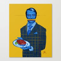 hannibal Canvas Prints featuring Hannibal by Leif Jones