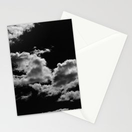 clouds black Stationery Cards