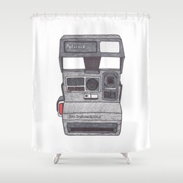 Instant Camera Drawing Shower Curtain