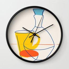 Line drawing /Still Life Wall Clock