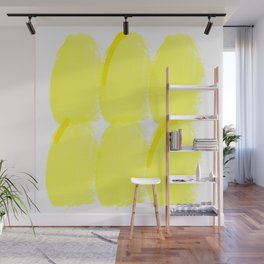 yellow finger print Wall Mural