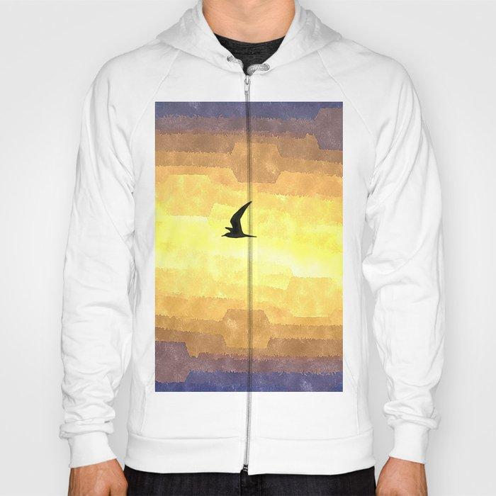 Abstract Seagull Flight Hoody