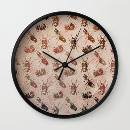 hot buggy mess persimmon brown Wall Clock