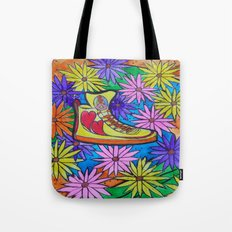 SNEAKER OF PEACE AND LOVE Tote Bag