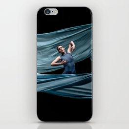 Dancing in rough blue waters iPhone Skin
