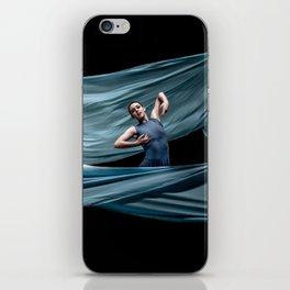 Dancing in rough blue waters iPhone Skin