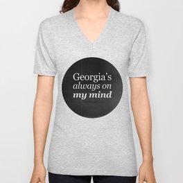 Georgia's always on my mind Unisex V-Neck