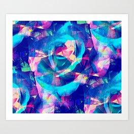 Blue Rose Carnival Art Print
