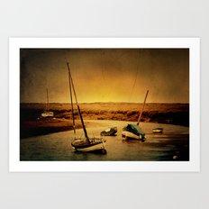 Blakeney Boats Art Print