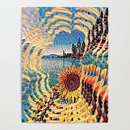 Tahoe Sunburst Poster