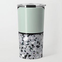 Minimal Modern Terrazzo Pattern Design Mint Green Travel Mug