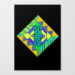 Neon Diamond Canvas Print