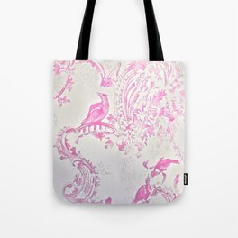 Hot Pink Birds Tote Bag