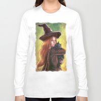 witch Long Sleeve T-shirts featuring Witch by Miguel Angel Carroza