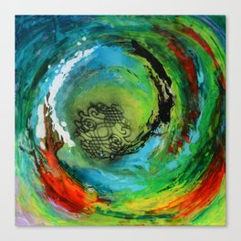 Maelstrom, captivating abstract painting Canvas Print