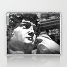 the David's face, Florence Tuscany Laptop & iPad Skin