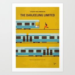 No800 My The Darjeeling Limited minimal movie poster Art Print