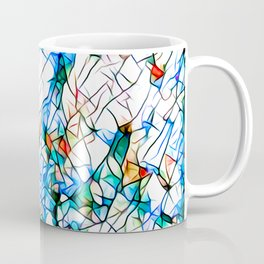 Glass stain mosaic 1 abstract - by Brian Vegas Coffee Mug
