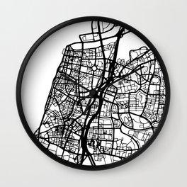 TEL AVIV ISRAEL BLACK CITY STREET MAP ART Wall Clock