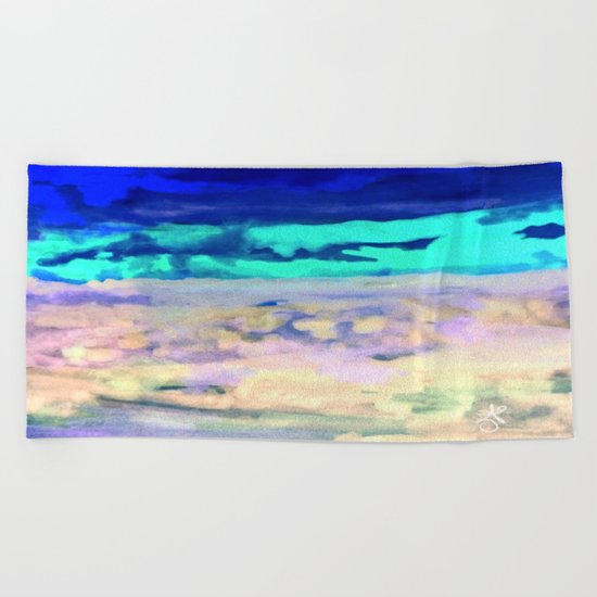 Icey Night Beach Towel