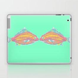 sea foam kisssing fish Laptop & iPad Skin