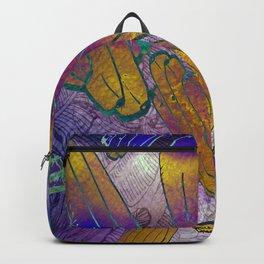 Watercolor textured pattern. Bananas. Backpack