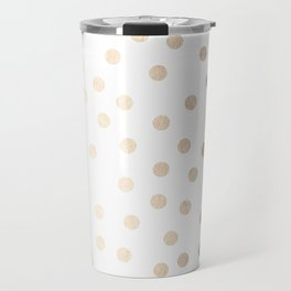 Simply Dots in White Gold Sands Travel Mug