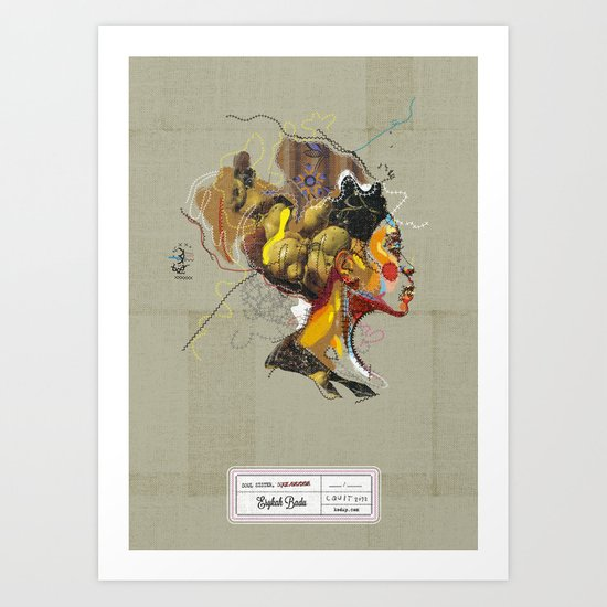 Erykah Badu - Soul Sister   Soul Brother Art Print