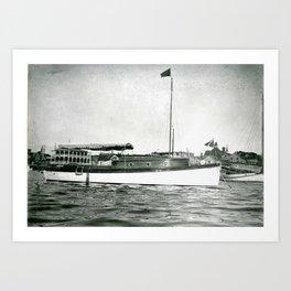 Dr. Becher's Boat, Newport, Rhode Island  Art Print
