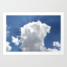 Sun and Rays over Moroni #4 Art Print