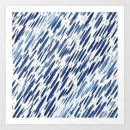 Boho Blue Brushstroke Art Print