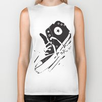 converse Biker Tanks featuring CONVERSE by PixelRiff
